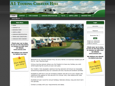 A1touringcaravanhire.co.uk